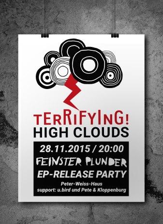 Plakat für die Release-Party